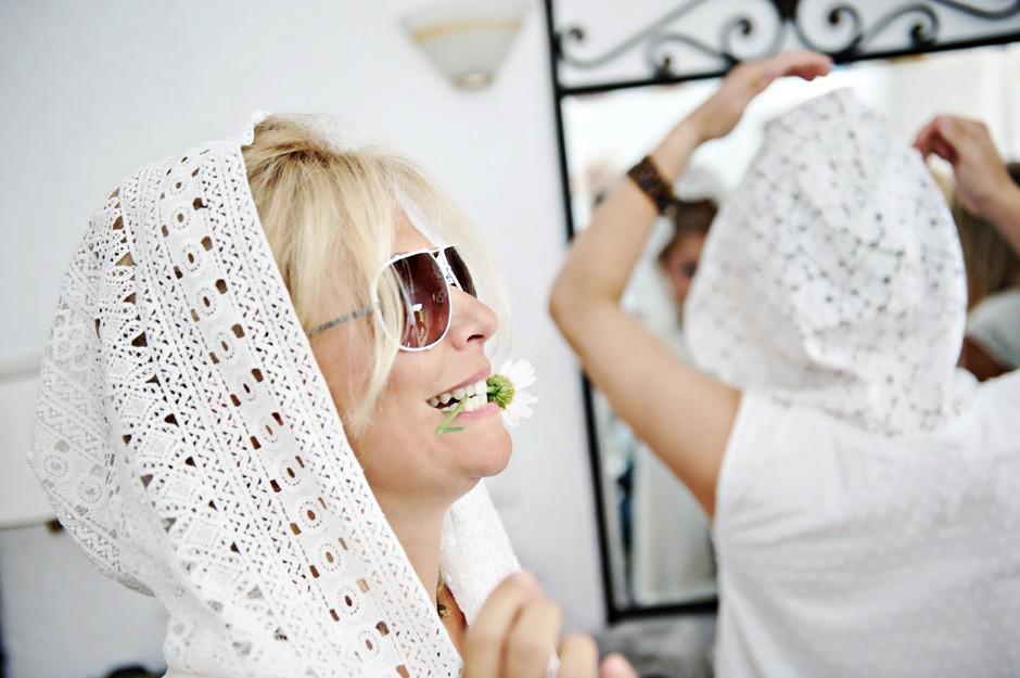 bride greek wedding dress in amorgos