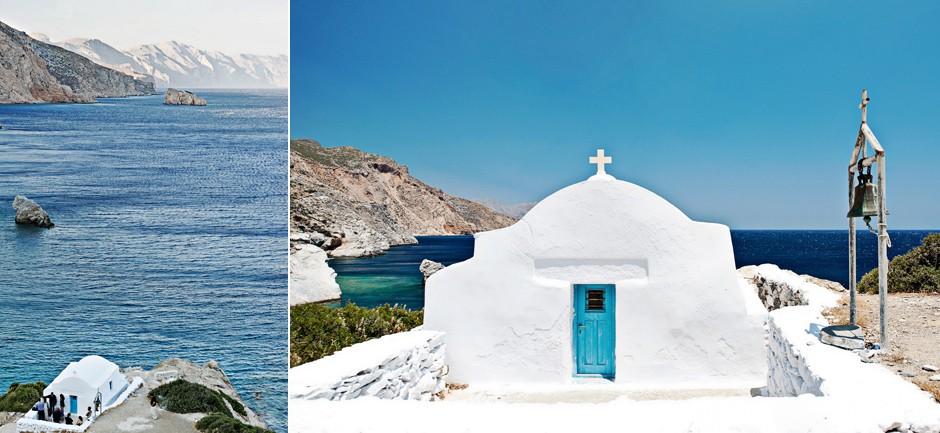 white chapel in amorgos