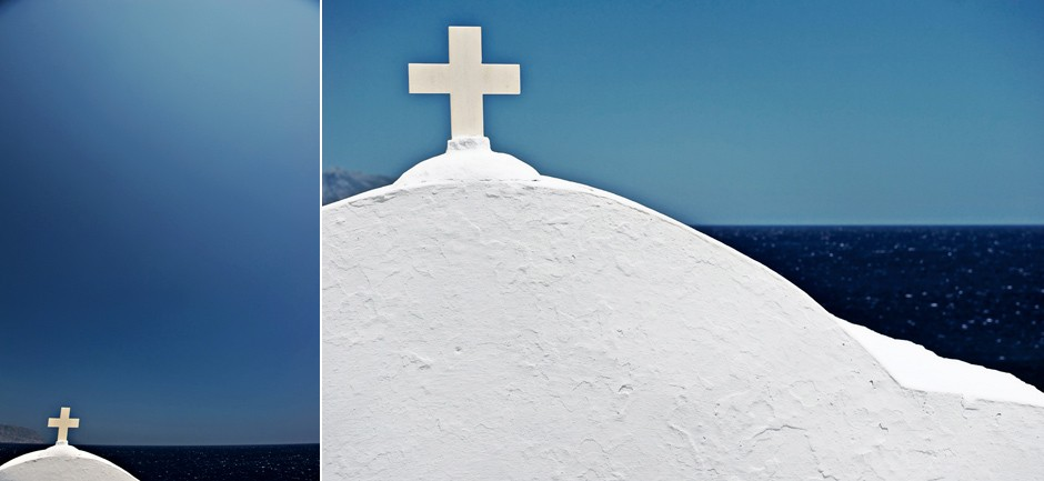 saint Anna white chapel in amorgos