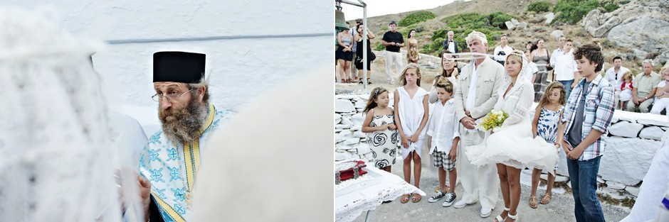 wedding in amorgos white chapel