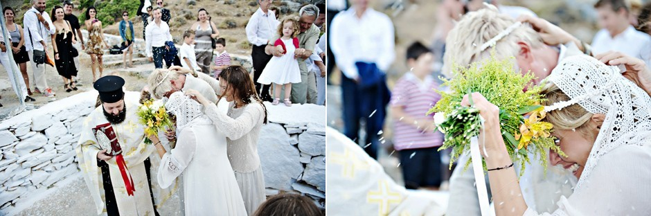 a wedding in amorgos island greece