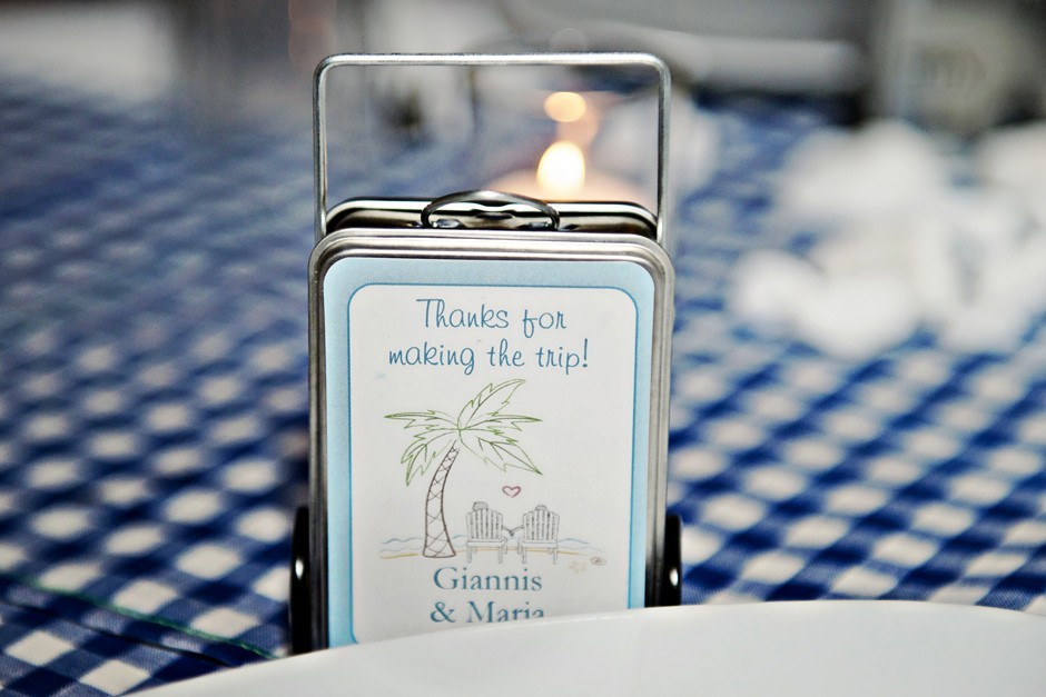 wedding present for guests in amorgos wedding