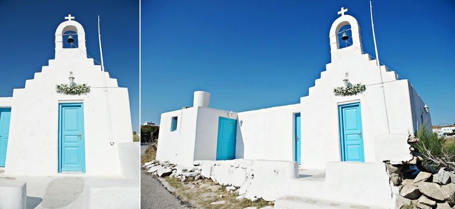 white chapel in mykonos wedding