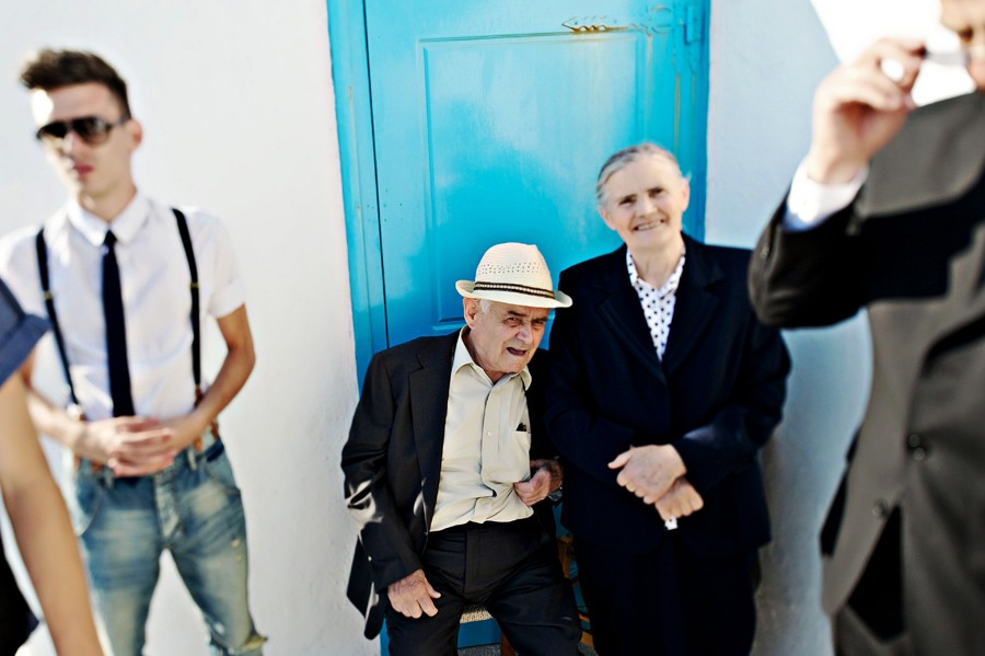 grandparents of the bride in mykonos wedding