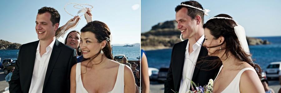 wedding ceremony near the sea in mykonos