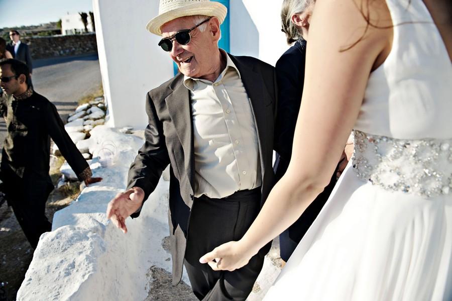 grandfather of the bride in mykonos