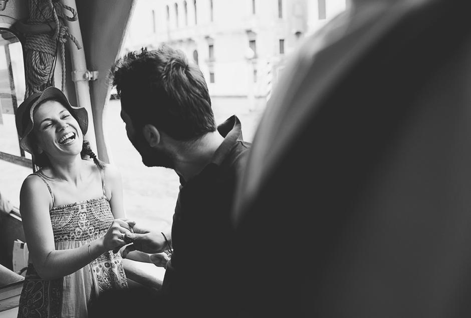venice honeymoon b&w photos