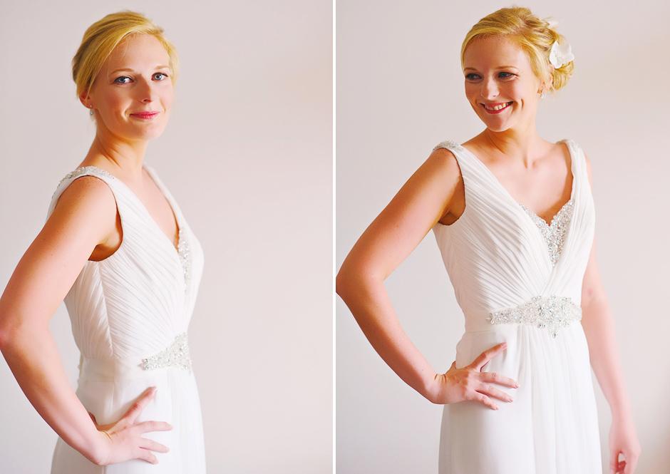 bride with stella york wedding dress