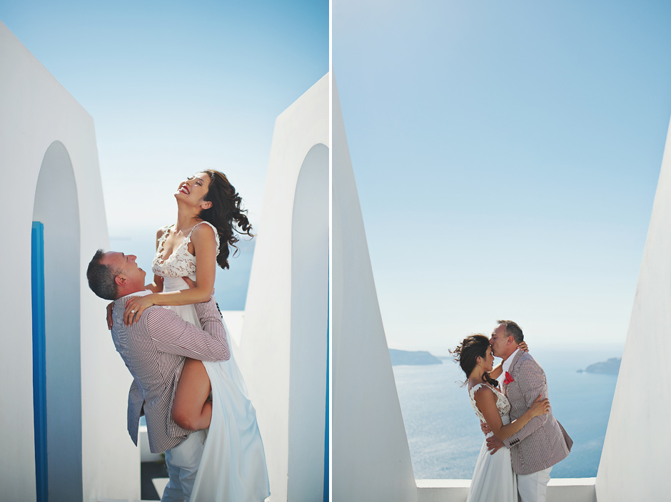 couple is tying the knot in santorini
