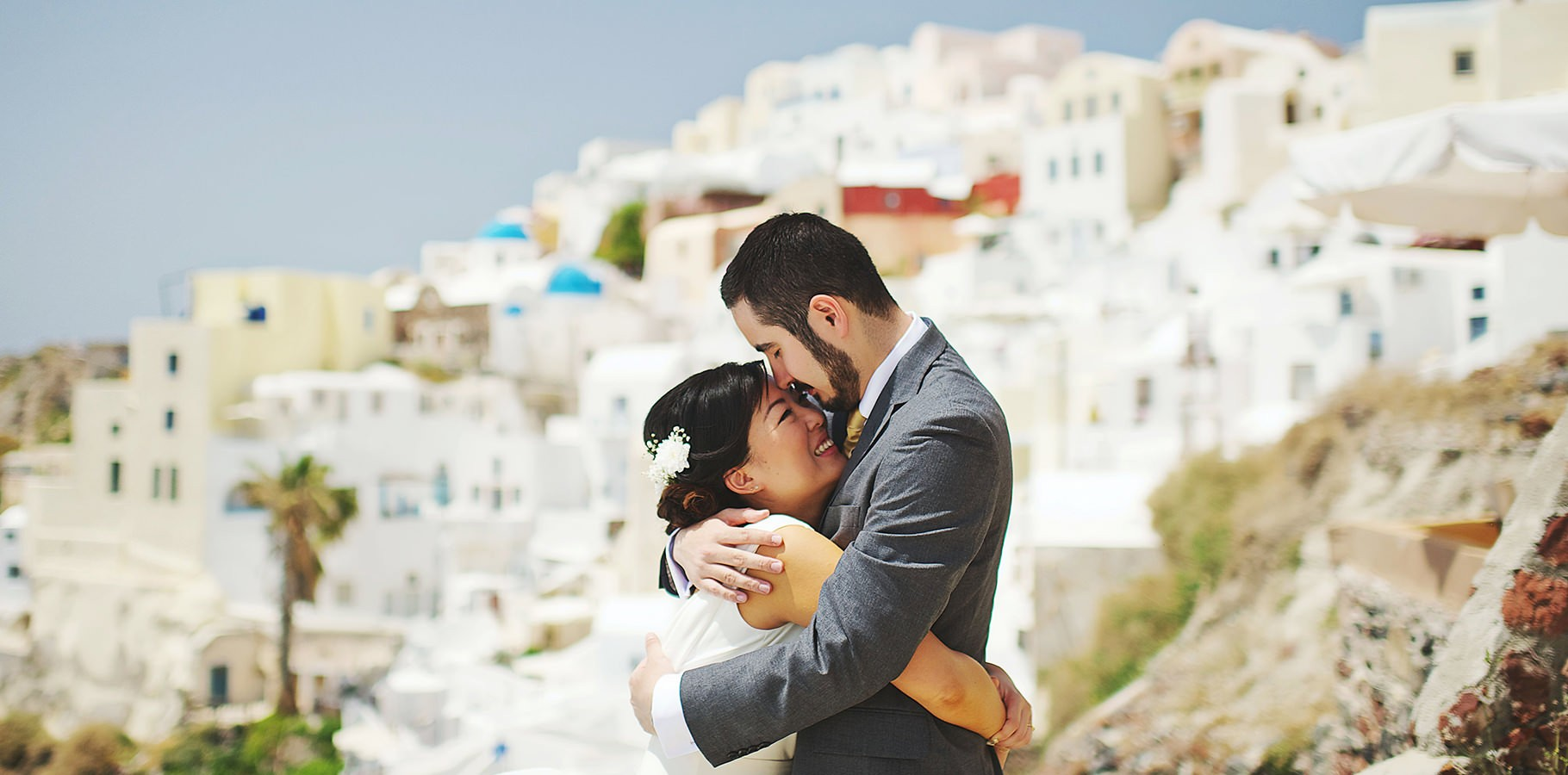 greece santorini elopement photos