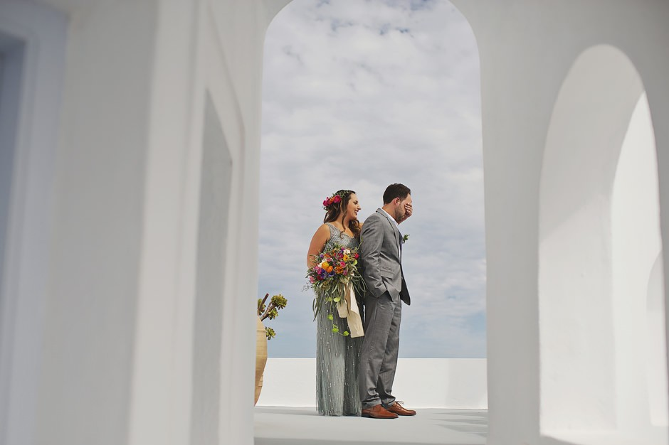 elopement in santorini rocabella