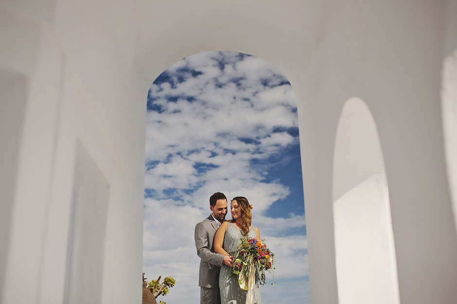 santorini elopement photoshoot