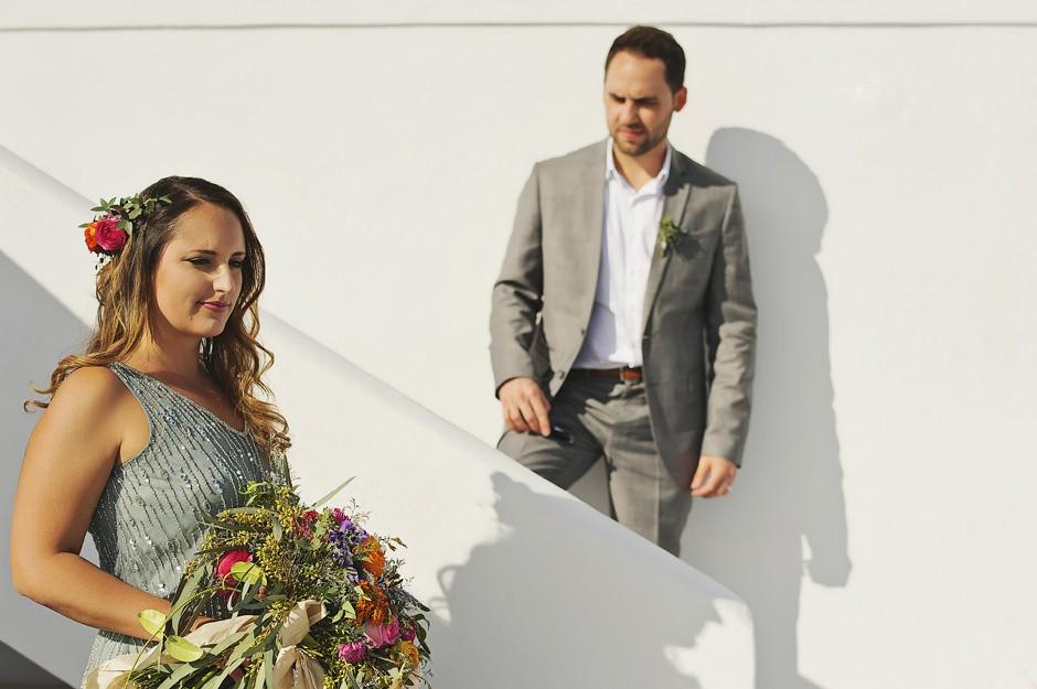 boho elopement photos in santorini