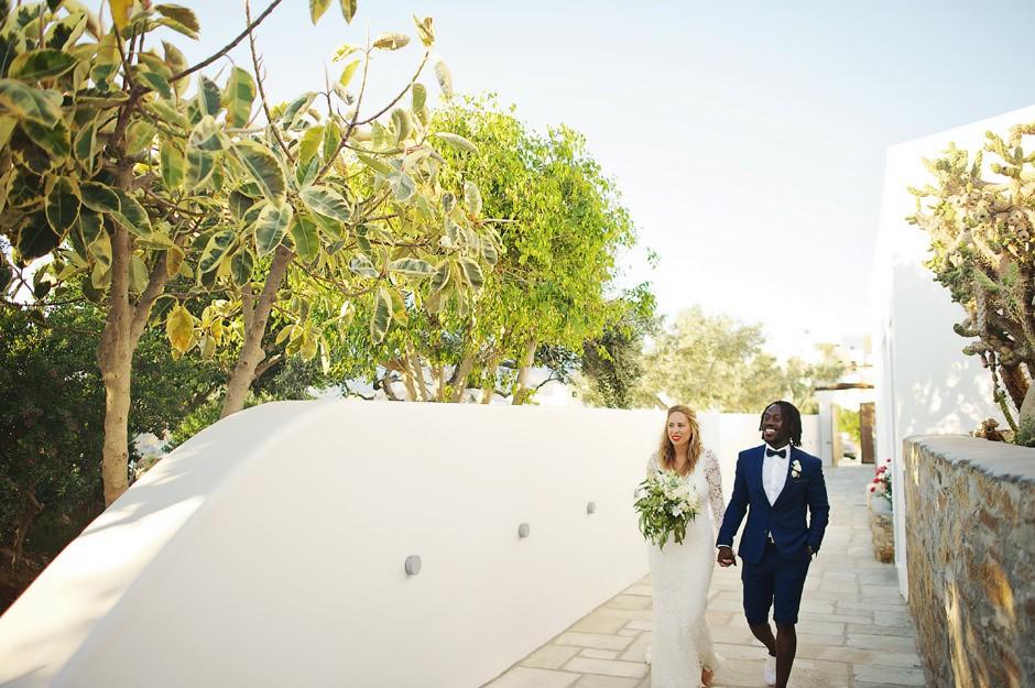 wedding ceremony in ios island