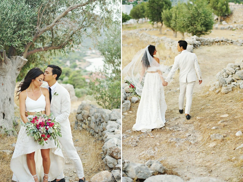 wedding invitations with the colors of greece