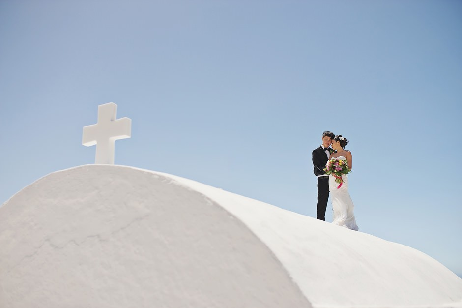 santorini elopement in sophia suites