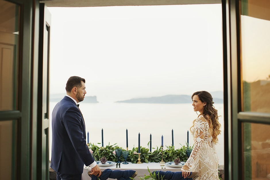 wedding in oia greece