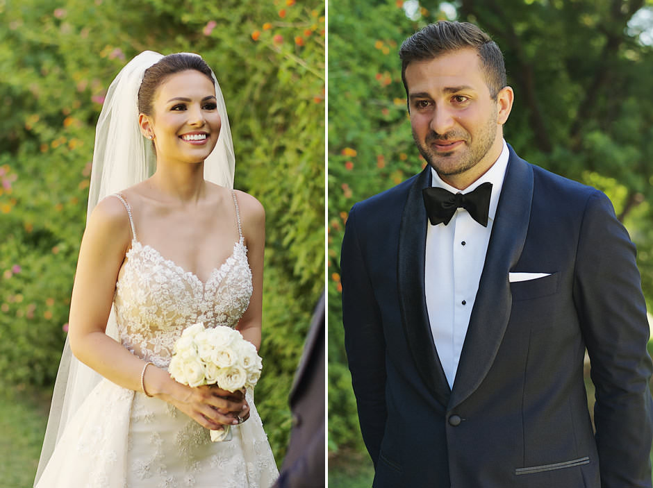 newlyweds in nafplio harbor