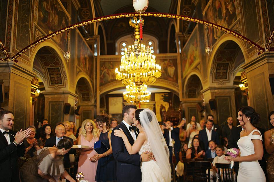 wedding ceremony inside fortress
