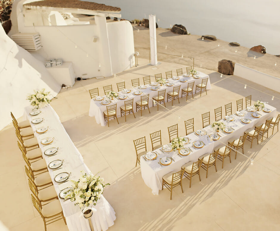Persian wedding in Santorini Rocabella hotel photos