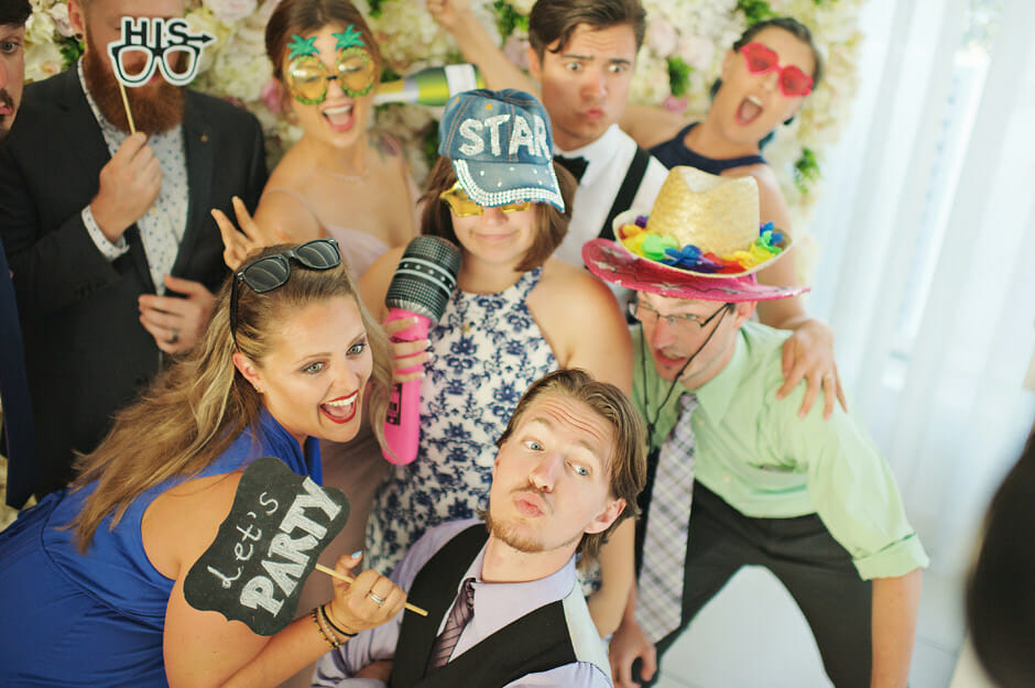 wedding photo booth in le ciel santorini