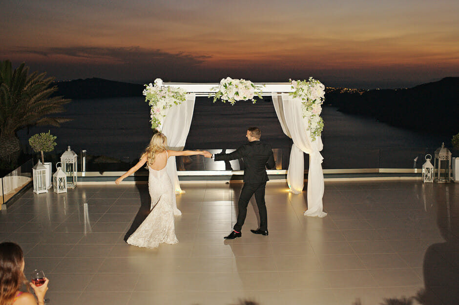 first wedding song in le ciel santorini