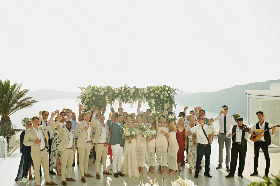 le ciel santorini wedding photos