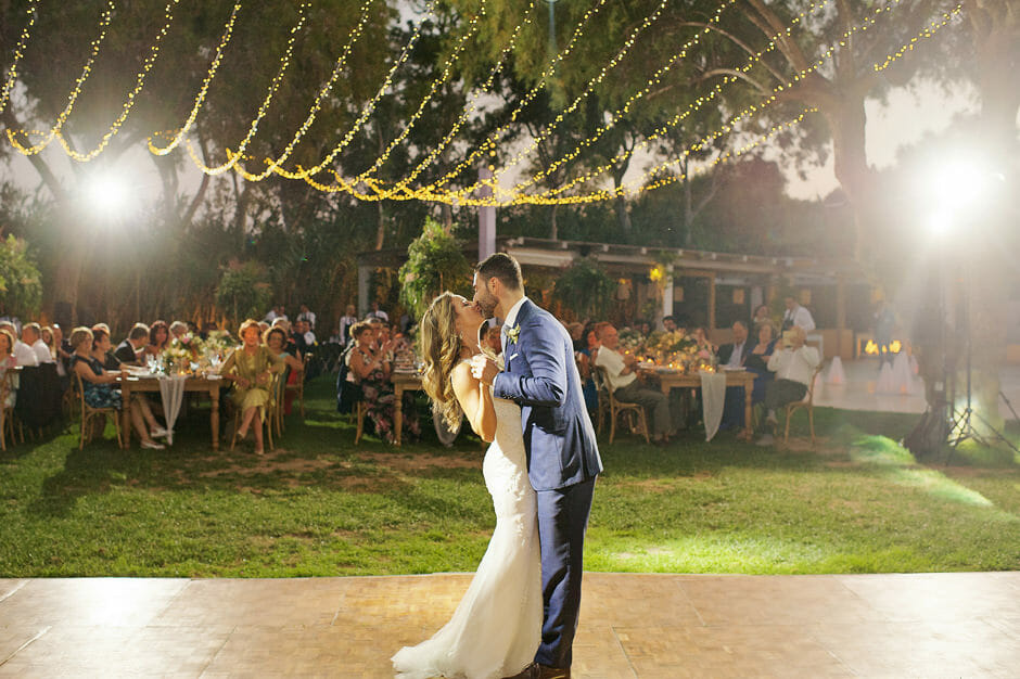 first dance in athens riviera wedding