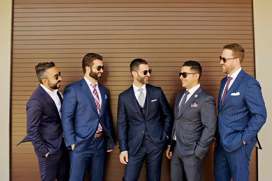 groom & groomsmen photo in athens riviera