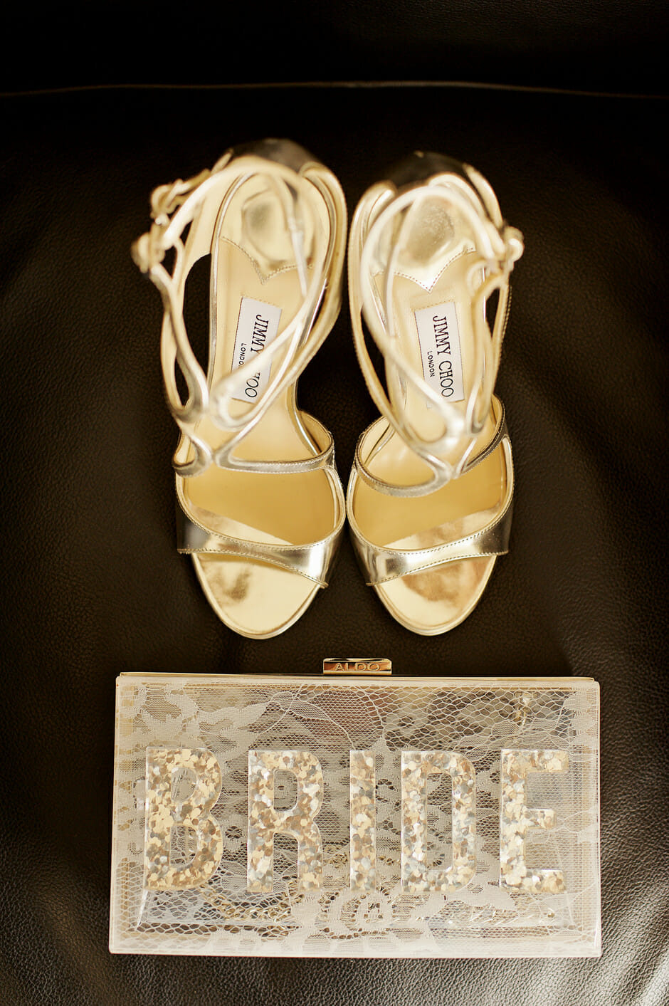 bride bag and jimmy Choo shoes for a wedding in athens riviera