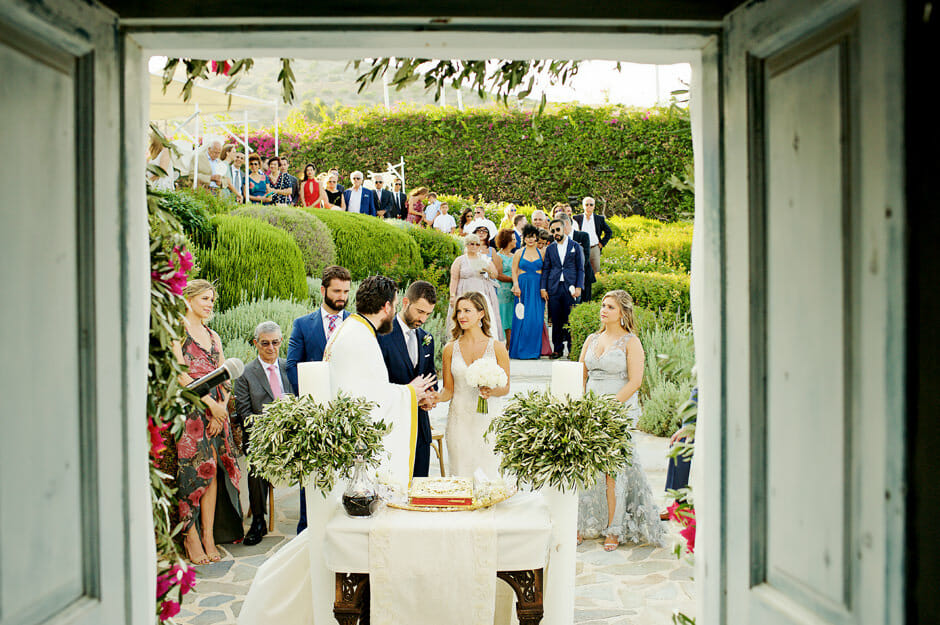 wedding ceremony starts in island athens riviera venue