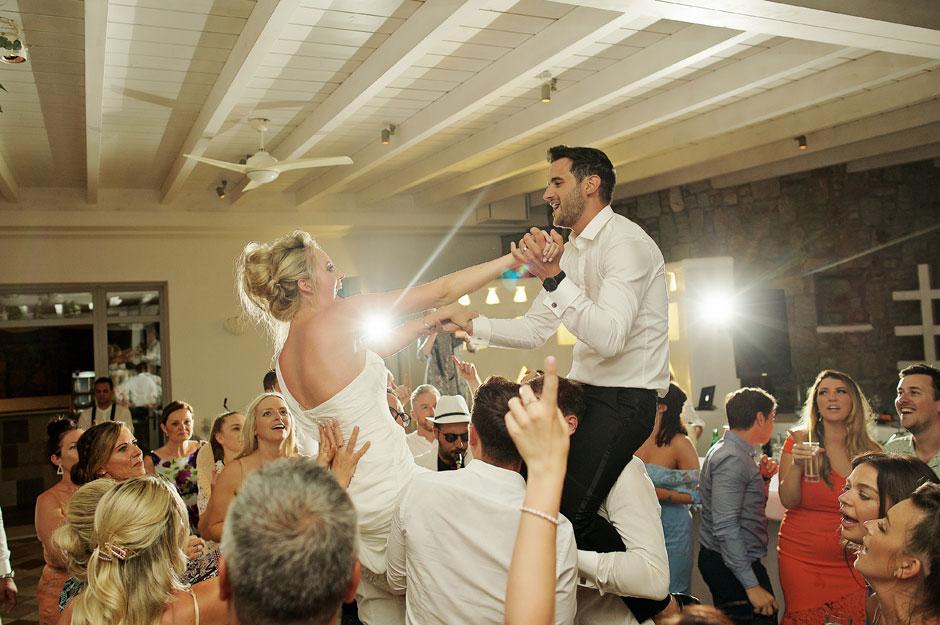 bride and groom wedding dance in mykonos