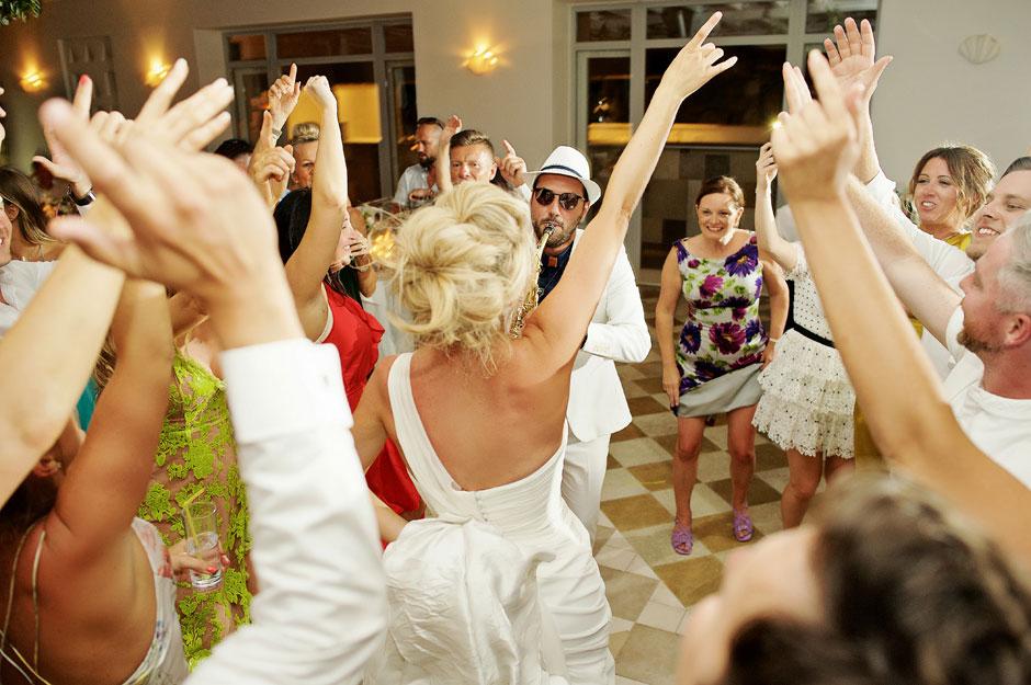bride dance in mykonos st John party