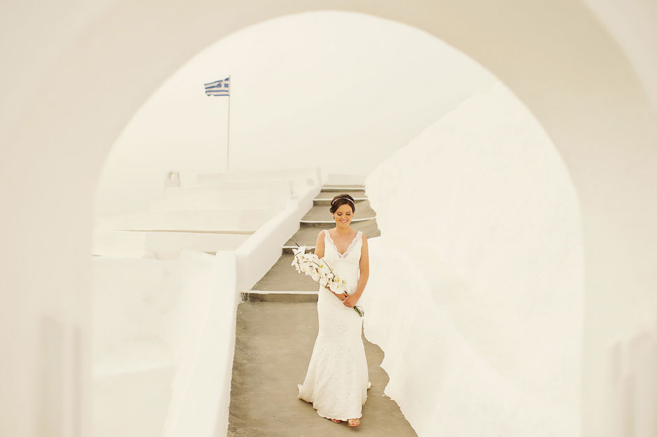 bride-walking-down-the-aisle-in-santa-irini-wedding-venue-