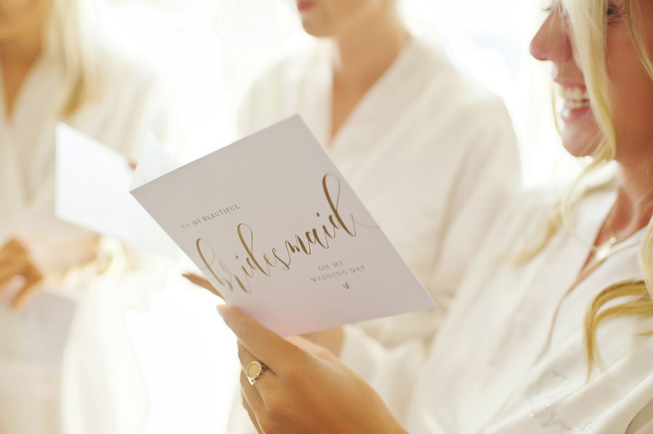 bridesmaids letter from the bride in st John mykonos