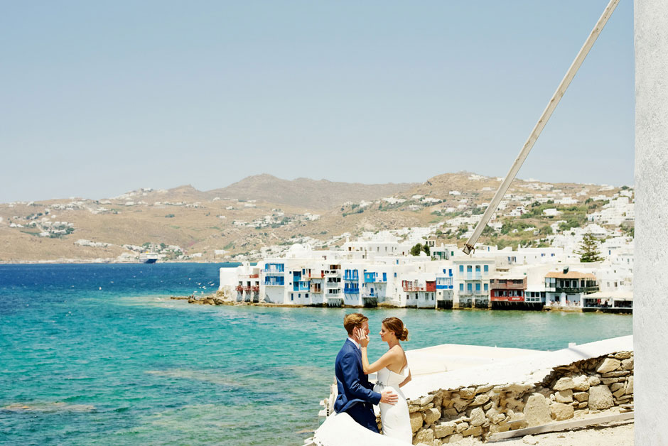 elopement in mykonos little venice