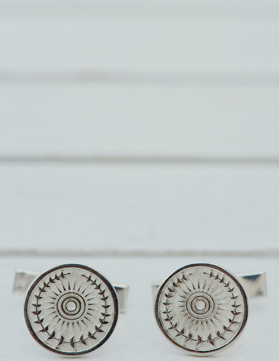 groom cufflinks in mykonos elopement