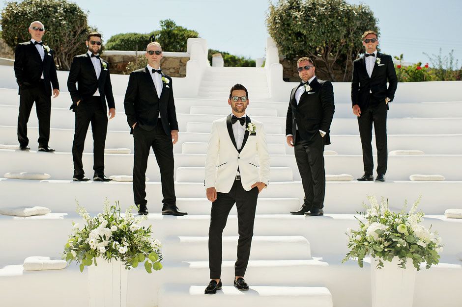 groom in mykonos star amphitheater hotel