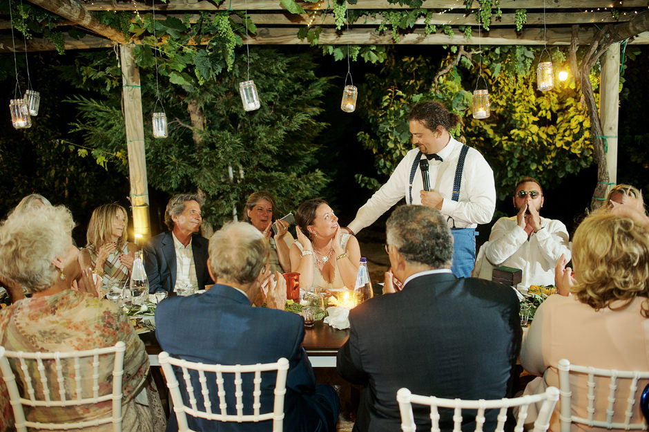 groom speech to the bride in naxos wedding
