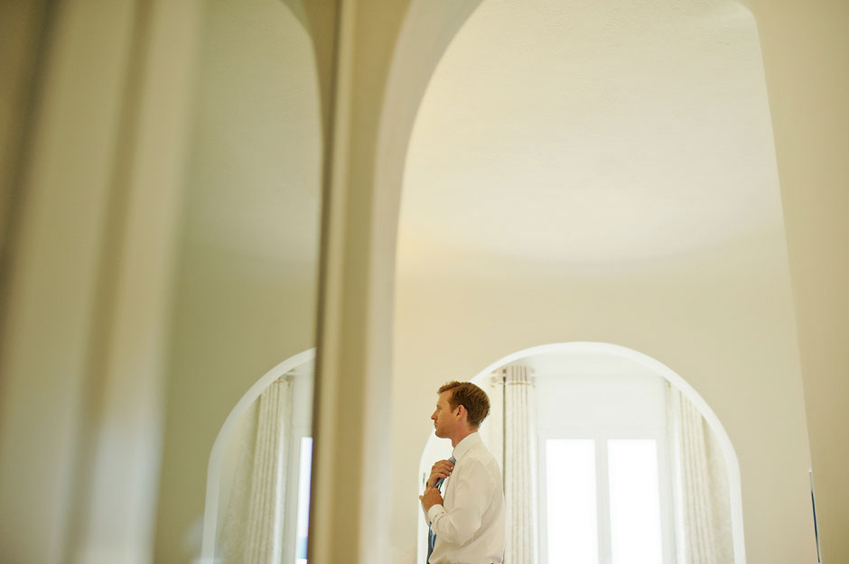groom before the elopement