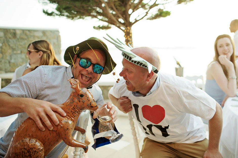 mykonos wedding fun party
