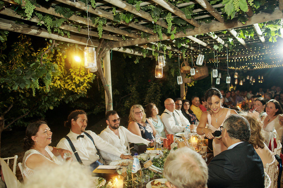 sister of the groom speech in naxos wedding