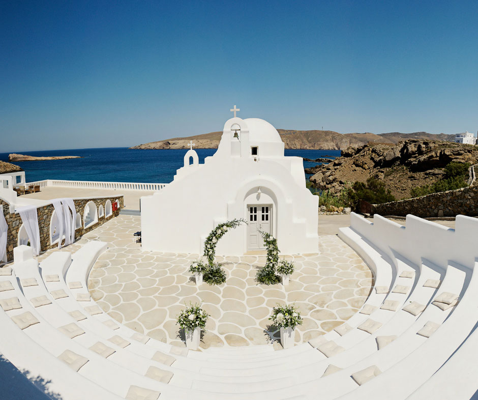 saint sostis white curch in mykonos