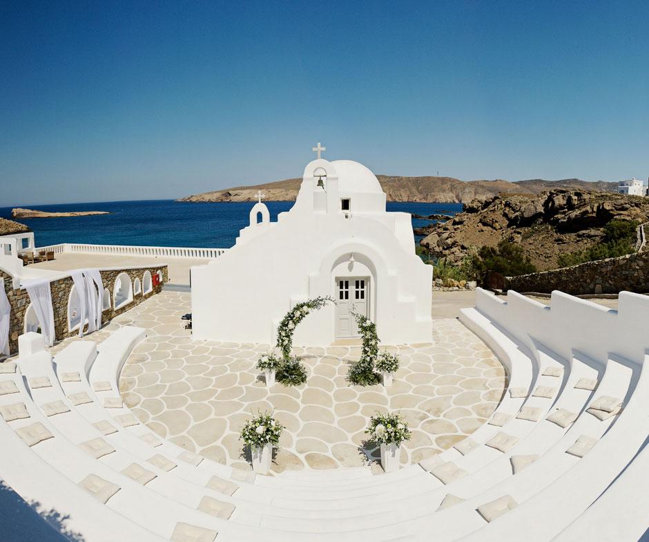 saint sostis white chapel in mykonos star hotel
