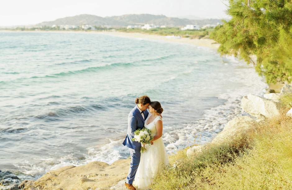 wedding at naxos beach