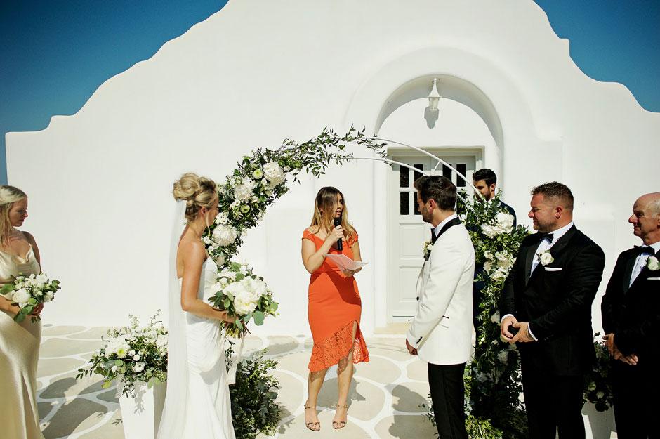 wedding celebrant in mykonos