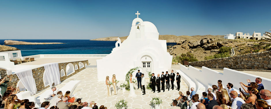 wedding ceremony in mykonos star hotel