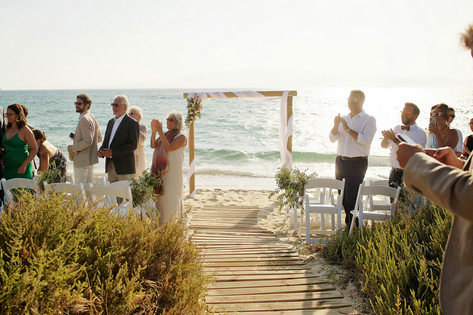 beach wedding ceremony in naxos