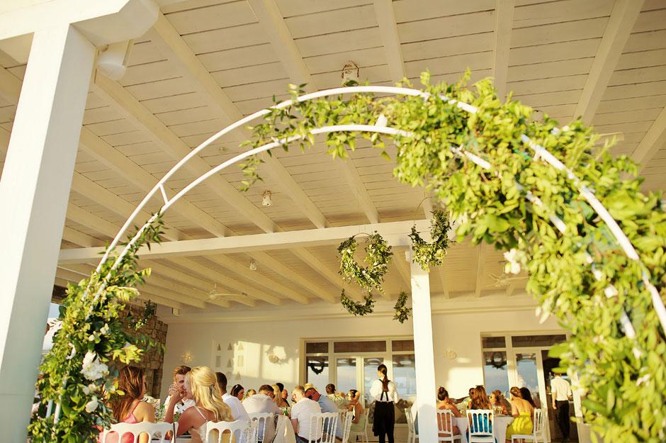 wedding dinner in st John mykonos hotel