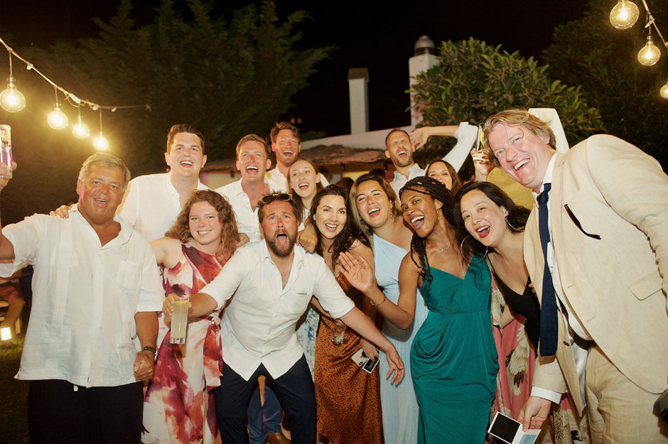 wedding guest party in naxos